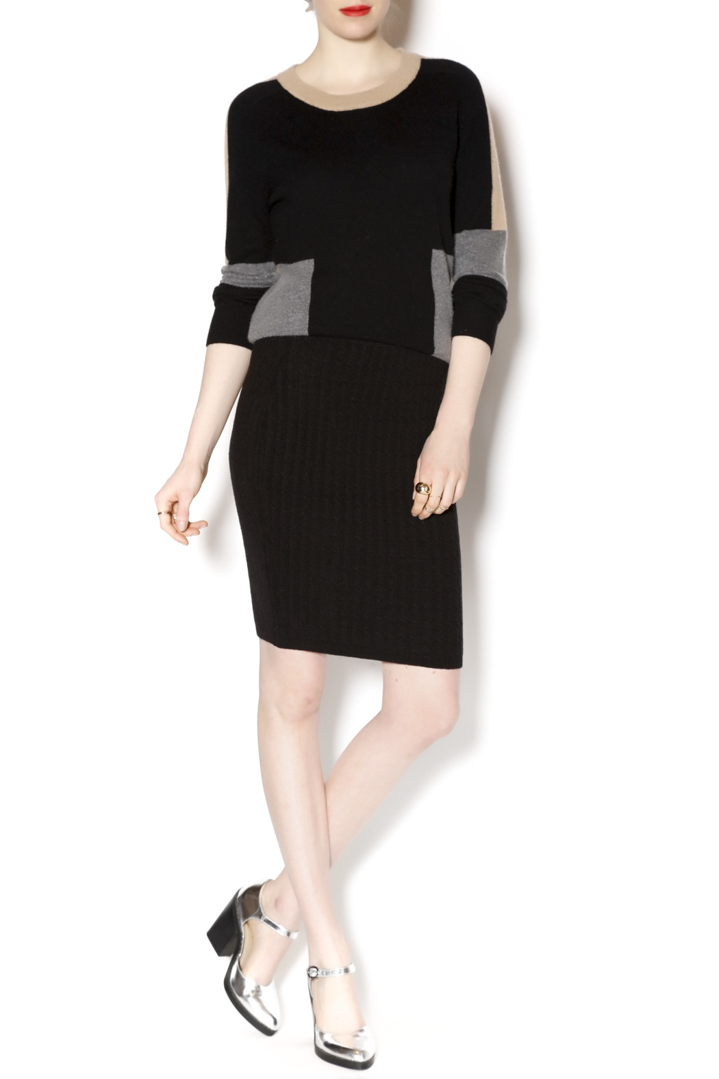 M. Rena Cable Sweater Skirt - Front Full Image