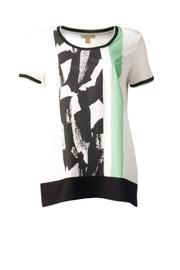 Bandolera White Print Top - Front cropped