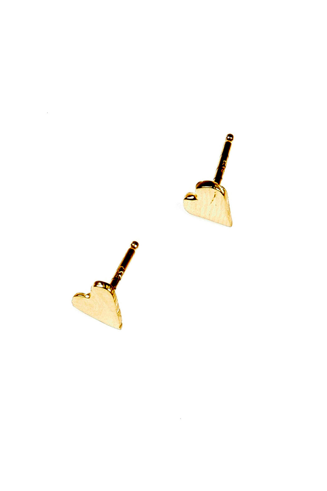 Lady J Jewelry Mini Heart Studs - Front Cropped Image