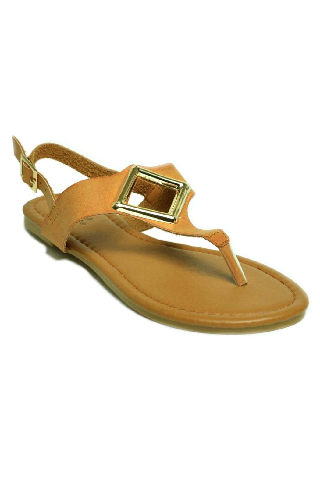Qupid T-Strap, Metallic Ornament-Sandal - Side Cropped Image