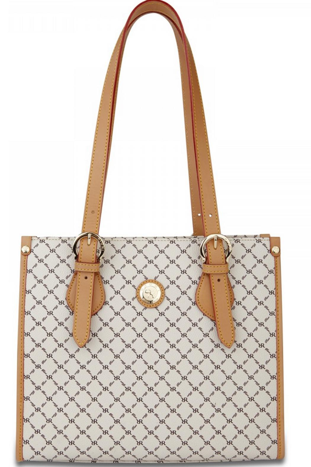 Rioni Signature Shoulder Tote - Front Cropped Image