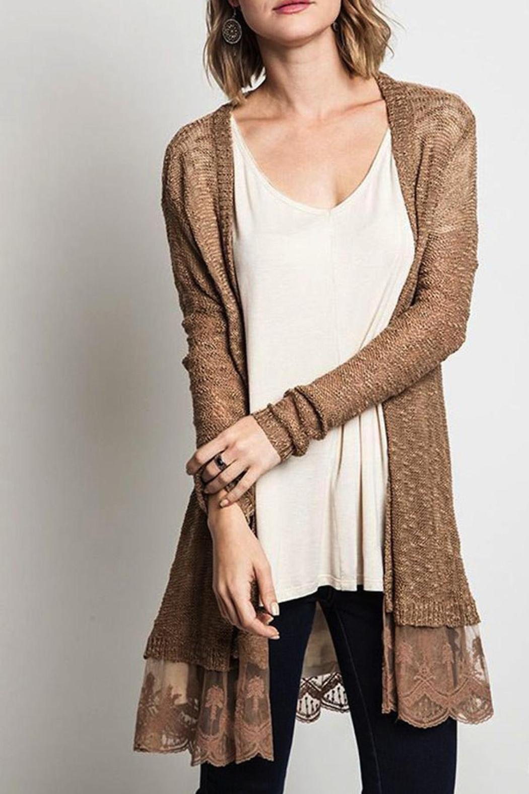 Umgee USA Lace Hem Cardigan from North Dakota by BREA — Shoptiques