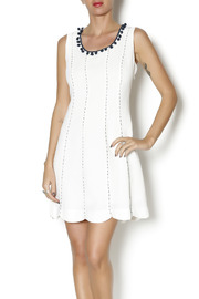 Esley Collection Pom Pom Sheath Dress - Front cropped
