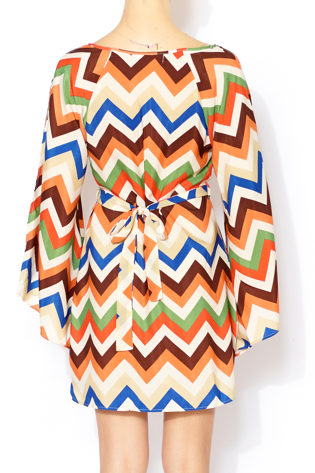 umgee usa chevron belted dress from chicago by