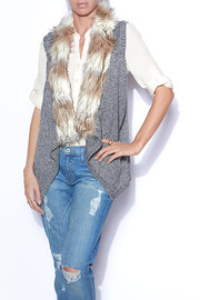Skies Are Blue Warm Fur Vest - Front cropped