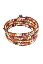 Ananda Leather Wrap Bracelet - Front cropped