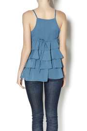 Elise Pearl Ruffle Top - Back cropped