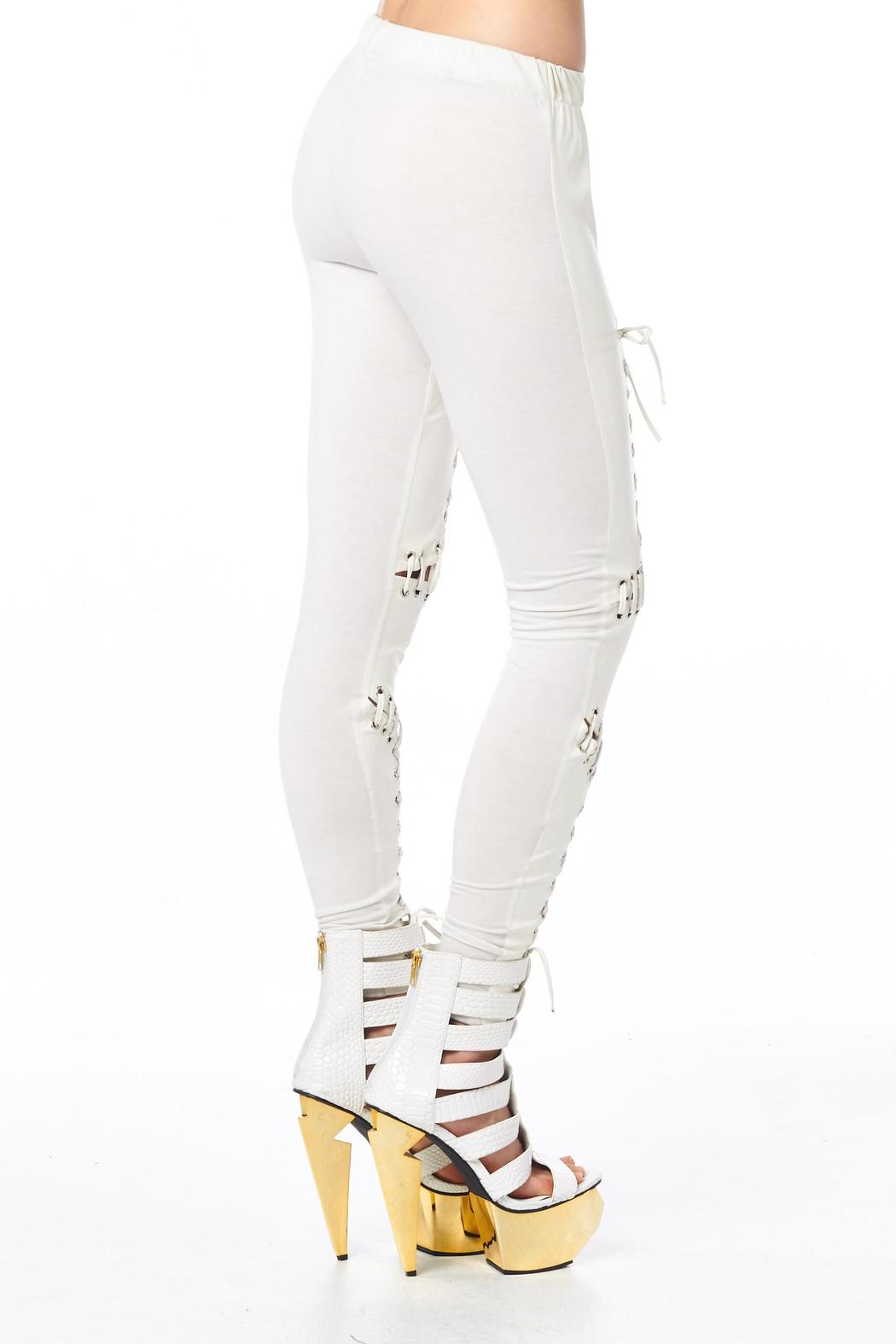 TOV H White Headliner Legging - Back Cropped Image