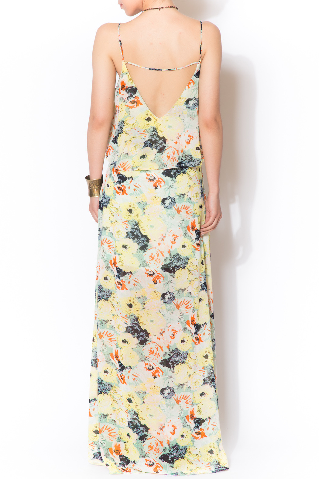 love sadie Floral Tiered Maxi - Back Cropped Image