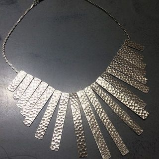 Shoptiques Hammered Silver Necklace