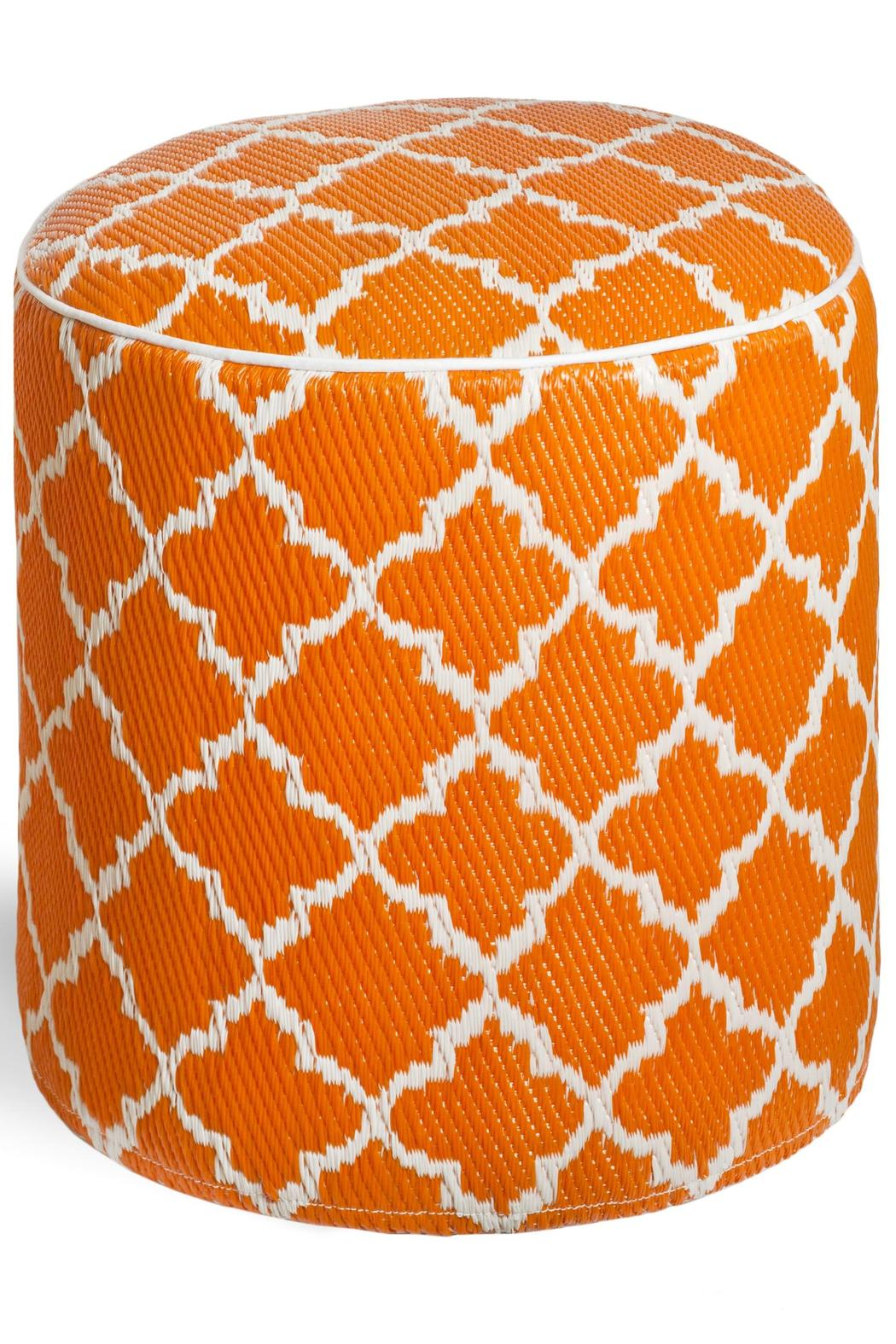 Private Label Tangier Outdoor Pouf - Front Cropped Image