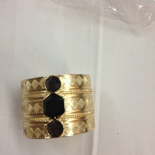 Shoptiques Product: Gold and Black Cuff