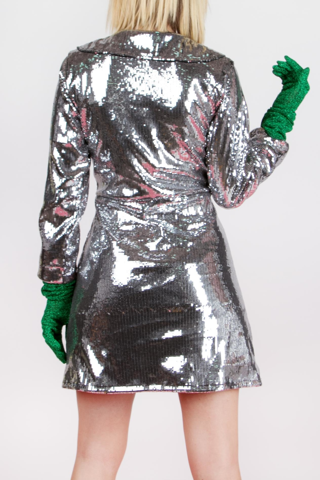 Da Wearhouse Dâ Silver Coat - Front Full Image