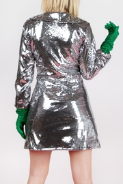 Da Wearhouse Dâ Silver Coat - Front full body