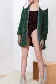 Da Wearhouse Fur Green Coat - Side cropped