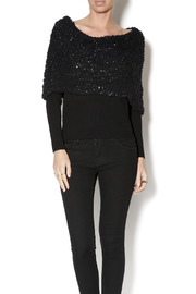 Talk of the Walk Textured Shimmer Sweater - Front cropped