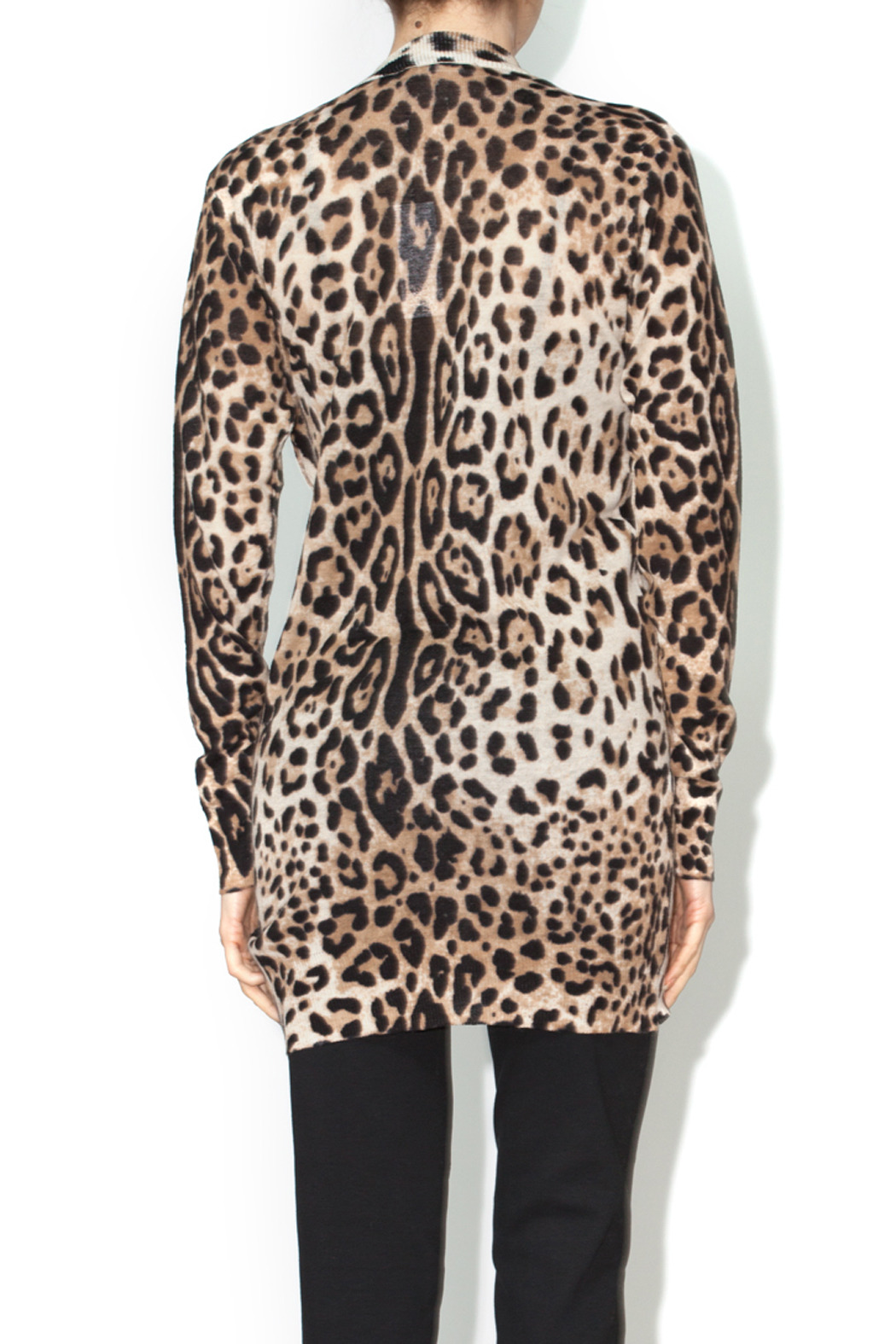 Ellison Leopard Cardigan - Back Cropped Image