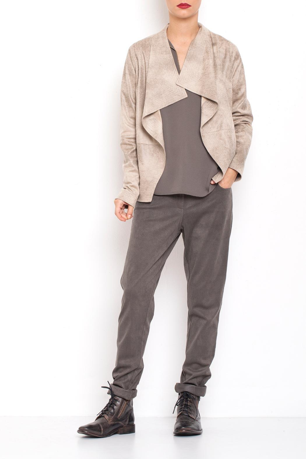 Dagani Studio Lined Draped Jacket - Front Full Image