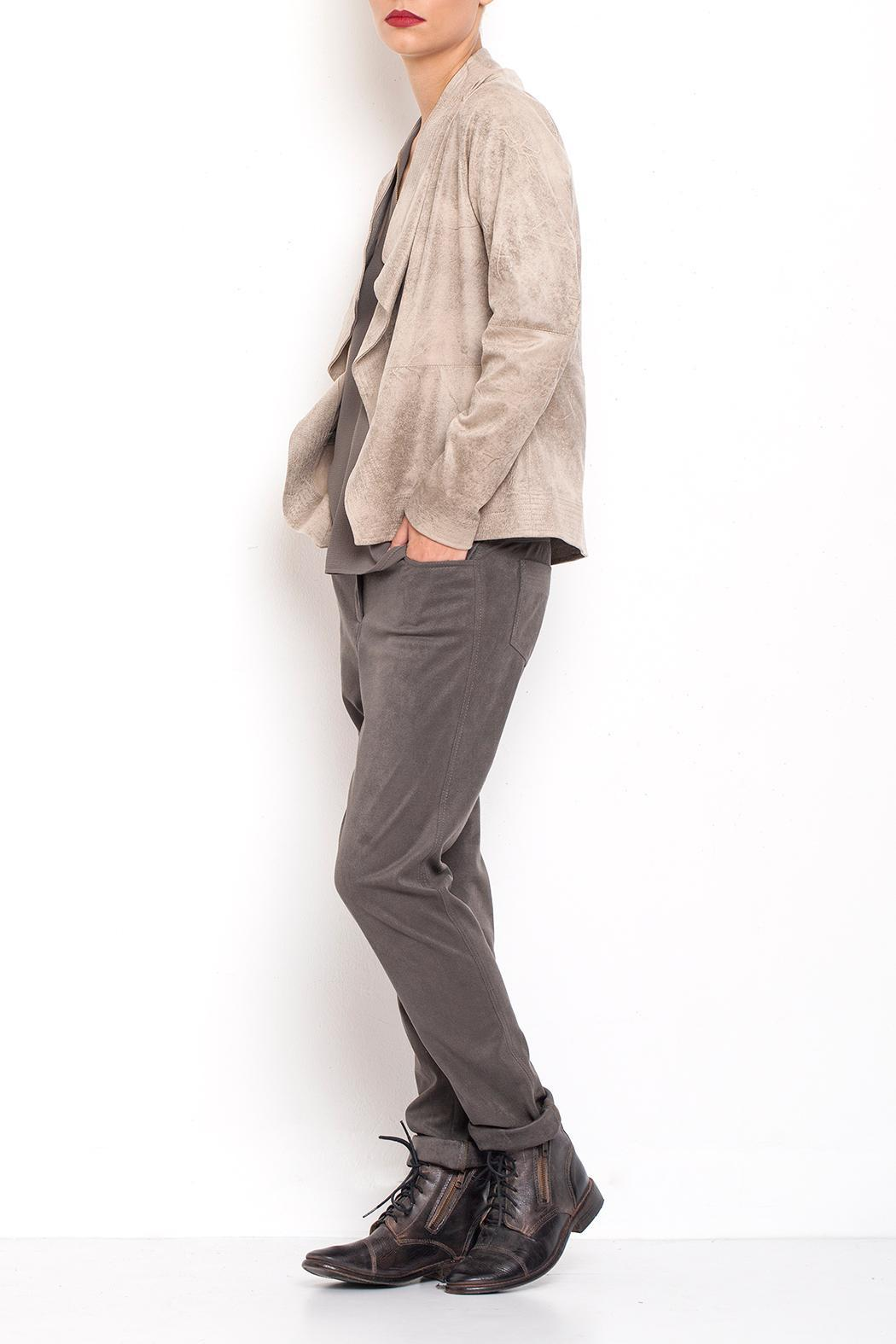 Dagani Studio Lined Draped Jacket - Side Cropped Image