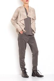 Dagani Studio Lined Draped Jacket - Front cropped
