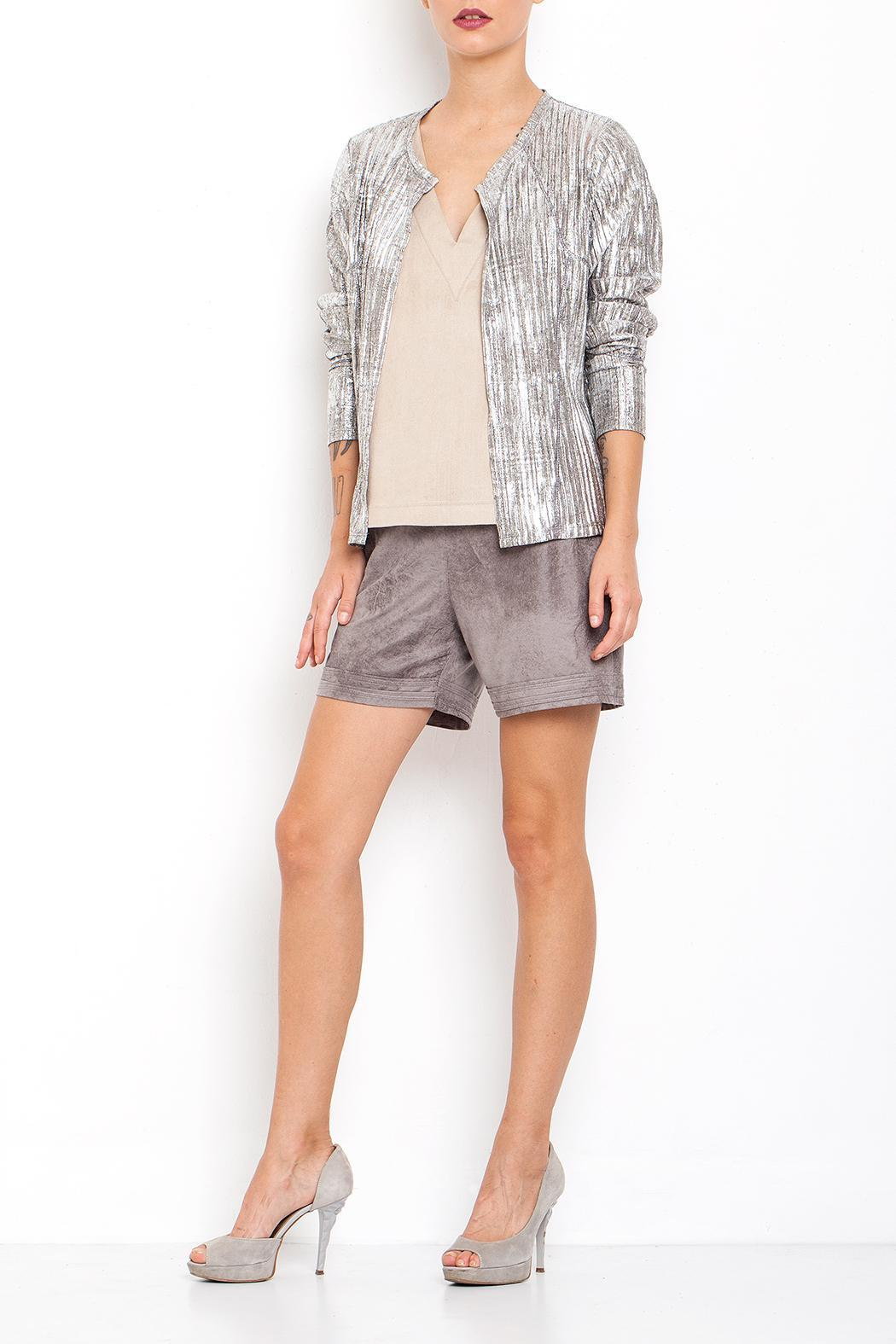 Dagani Studio Pleated Silver Top - Main Image