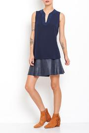 Dagani Studio Sleevless Crepe Top - Front cropped