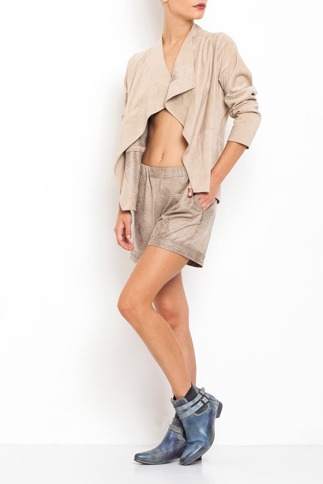 Dagani Studio Faux Leather Shorts - Main Image