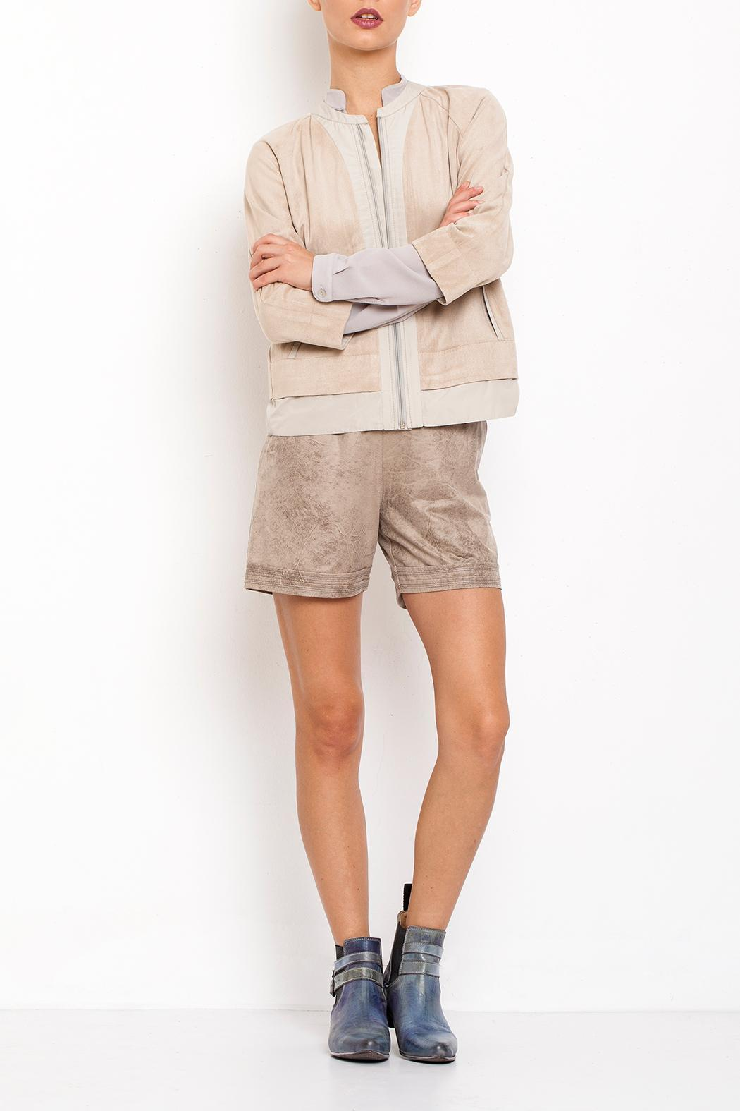 Dagani Studio Faux Leather Shorts - Front Full Image