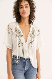 Free People Dahlia Embroidered Blouse - Product Mini Image