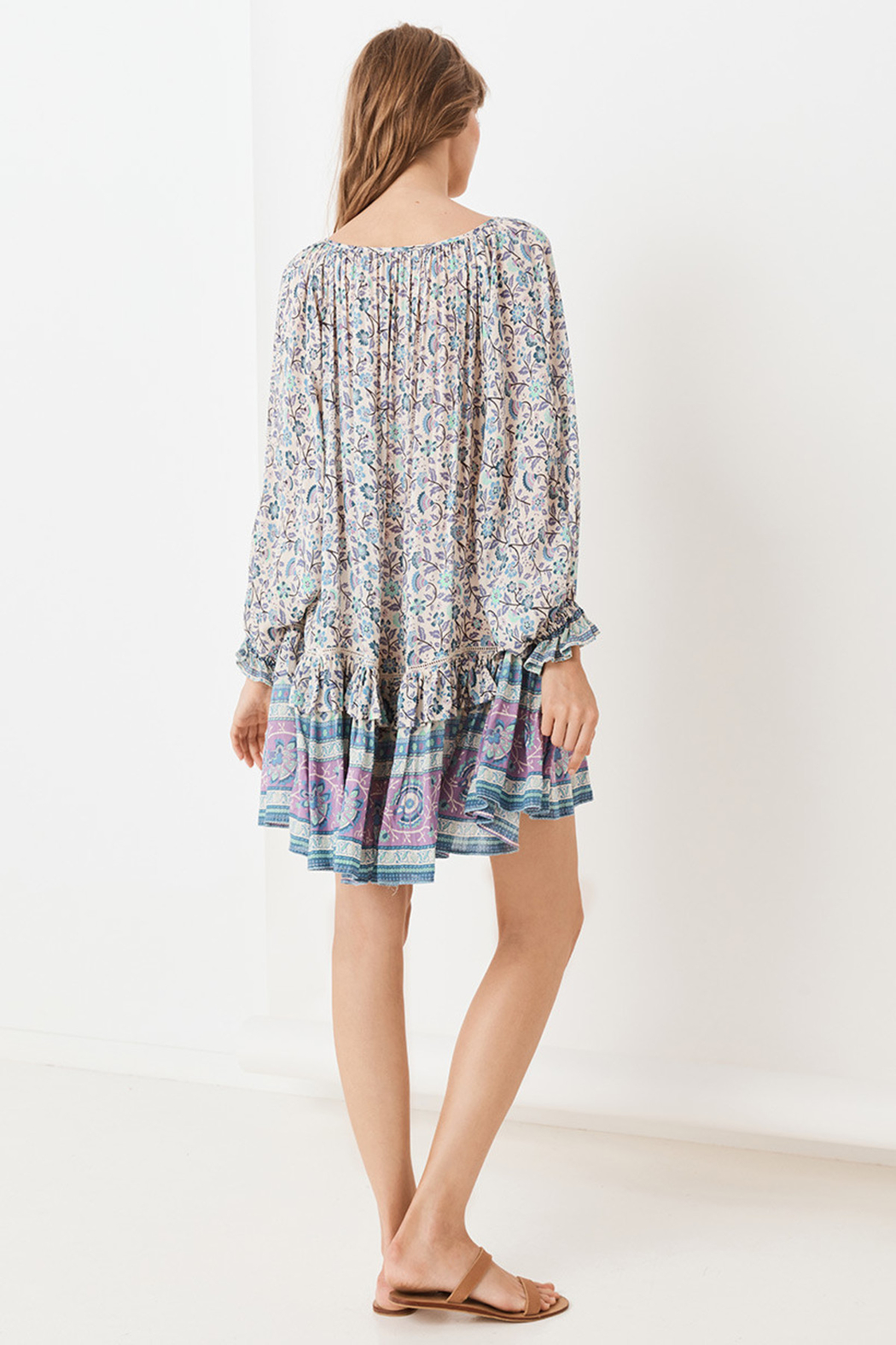 Spell  Dahlia Tunic Dress - Side Cropped Image