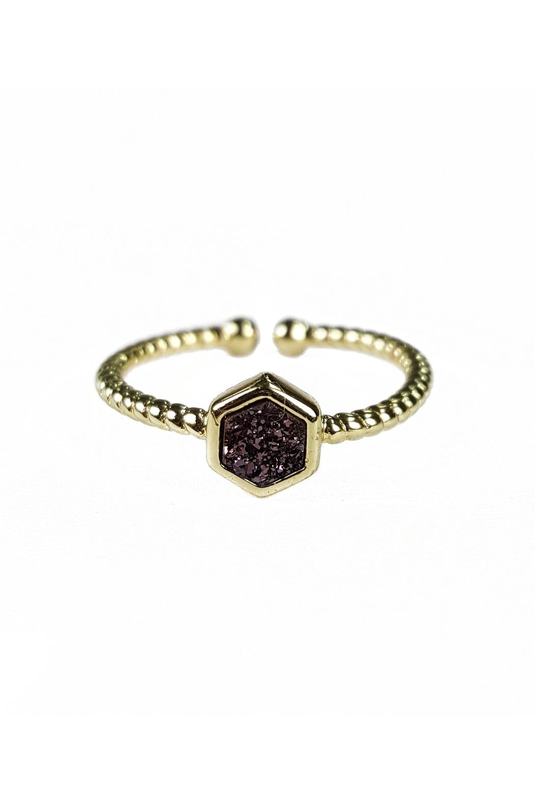 Fabulina Designs Daintily Yours Druzy Ring - Front Cropped Image