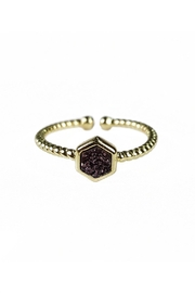 Fabulina Designs Daintily Yours Druzy Ring - Front cropped
