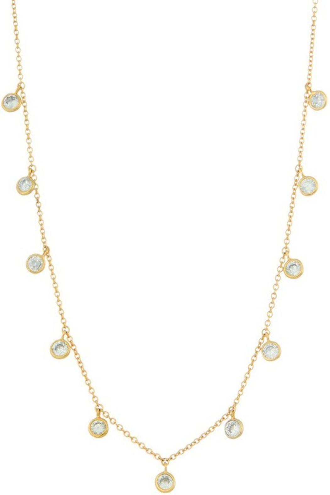FAME ACCESORIES Dainty Bezel CZ Necklace - Main Image