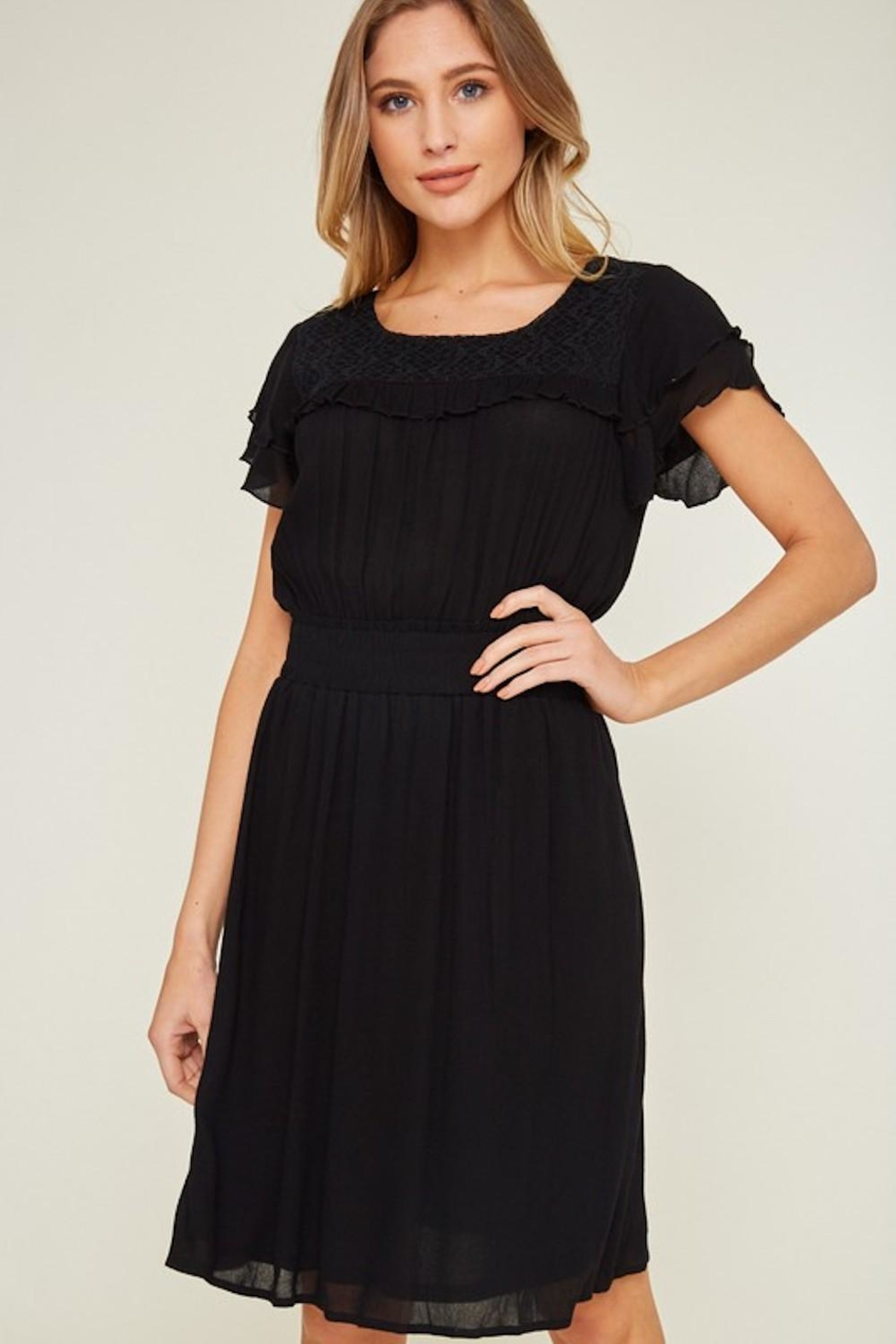 LLove USA Dainty Black Dress - Side Cropped Image