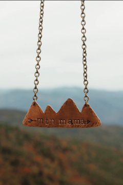 Shoptiques Product: DAINTY COPPER MTN MAMA NECKLACE