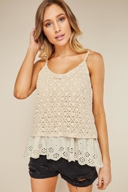 LLove USA Dainty Cream Crochet - Front cropped