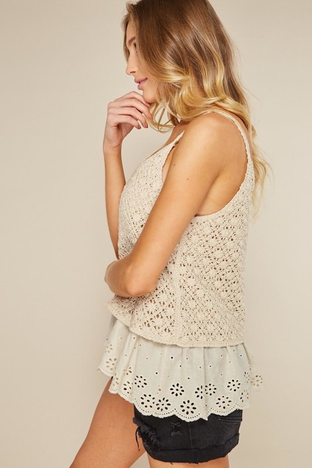 LLove USA Dainty Cream Crochet - Front Full Image