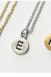 Cool and Interesting Dainty-Disc Initial Necklace - Product Mini Image