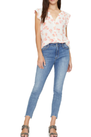Sanctuary Dainty florals adorn this short-sleeve shirt in an allover manner. - Product Mini Image
