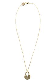 The Giving Keys Dainty Lock Necklace - Front cropped