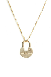The Giving Keys Dainty Lock Necklace - Front full body