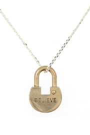 The Giving Keys Dainty Lock Necklace - Product Mini Image