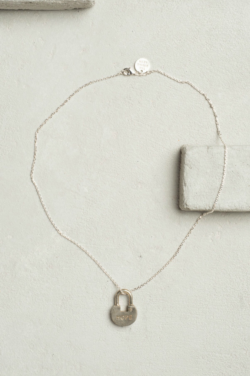 The Giving Keys Dainty Lock Necklace - Front Cropped Image