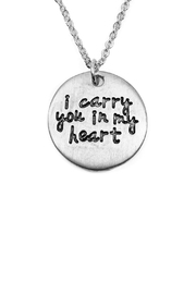 Riah Fashion Dainty Message Necklaces - Front full body