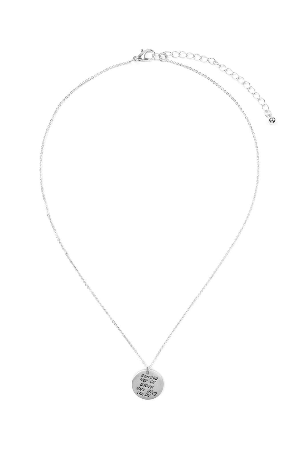 Riah Fashion Dainty Message Necklaces - Front Cropped Image