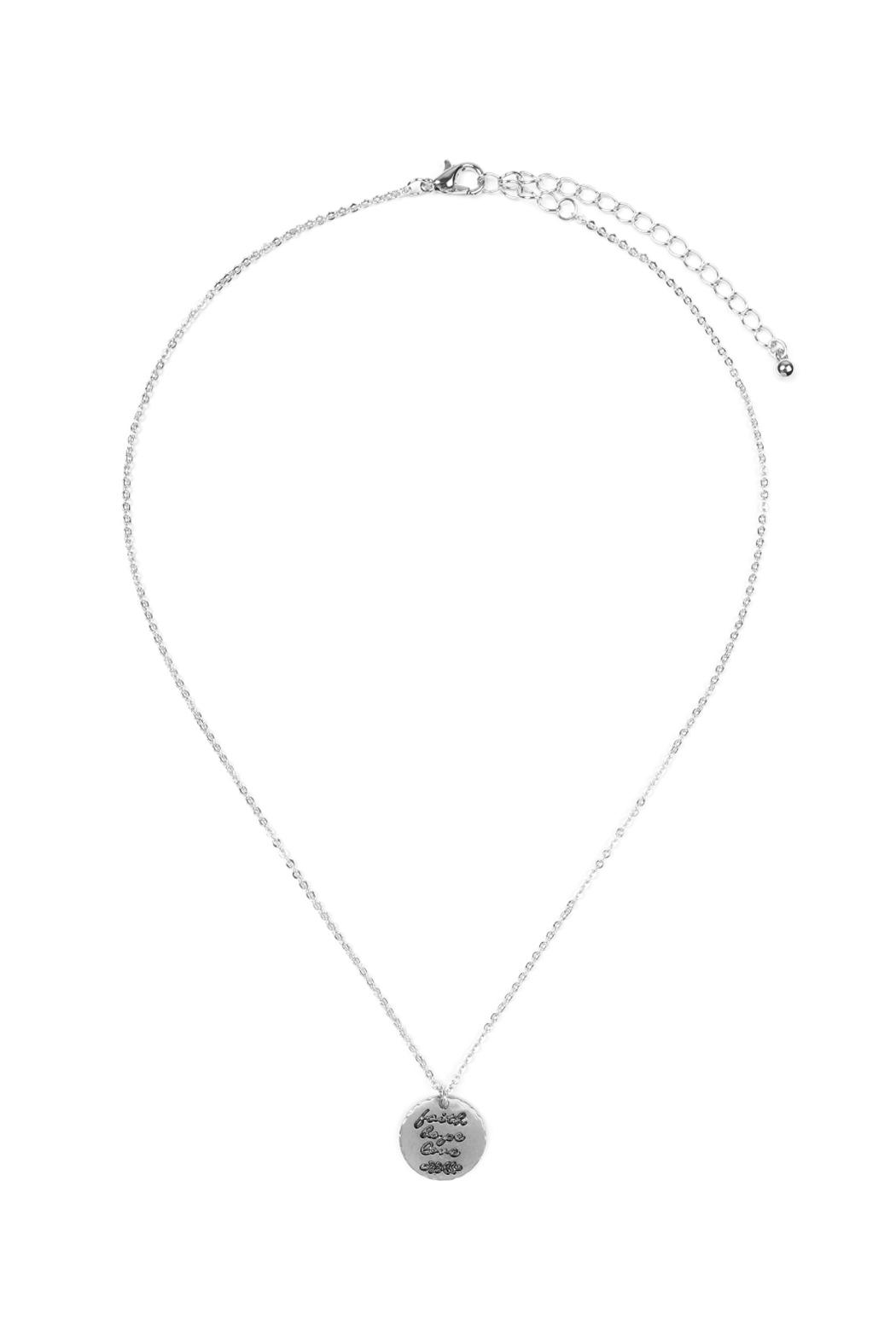 Riah Fashion Dainty Message Necklaces - Main Image