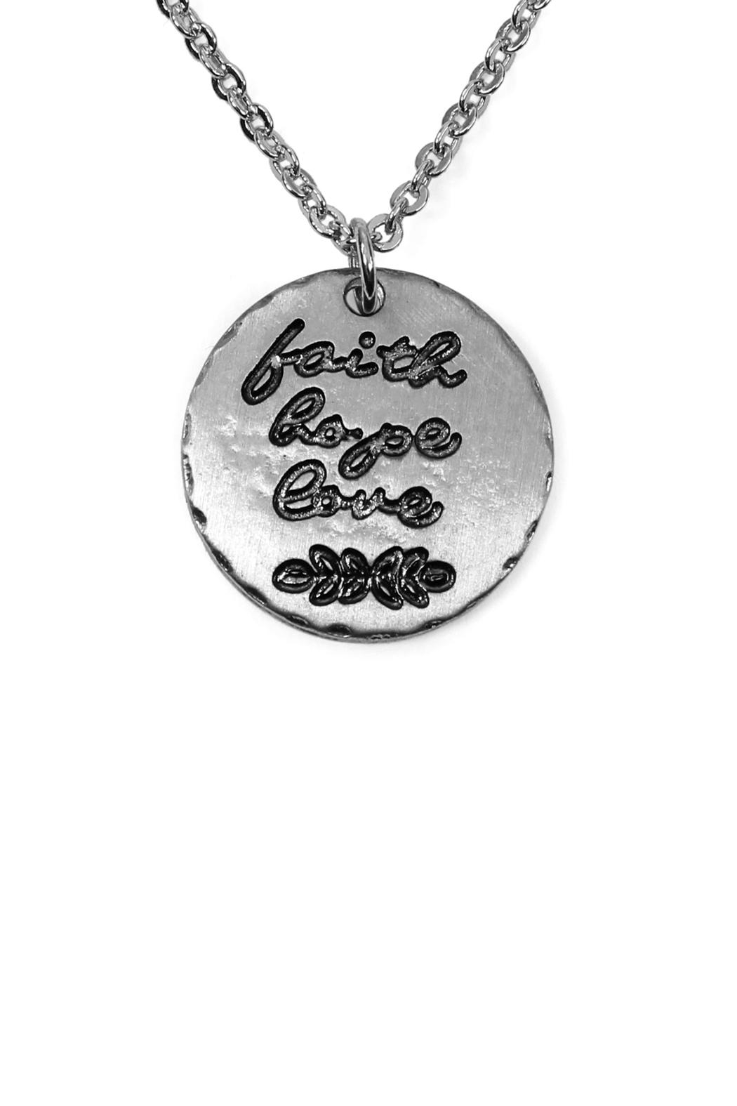 Riah Fashion Dainty Message Necklaces - Front Full Image