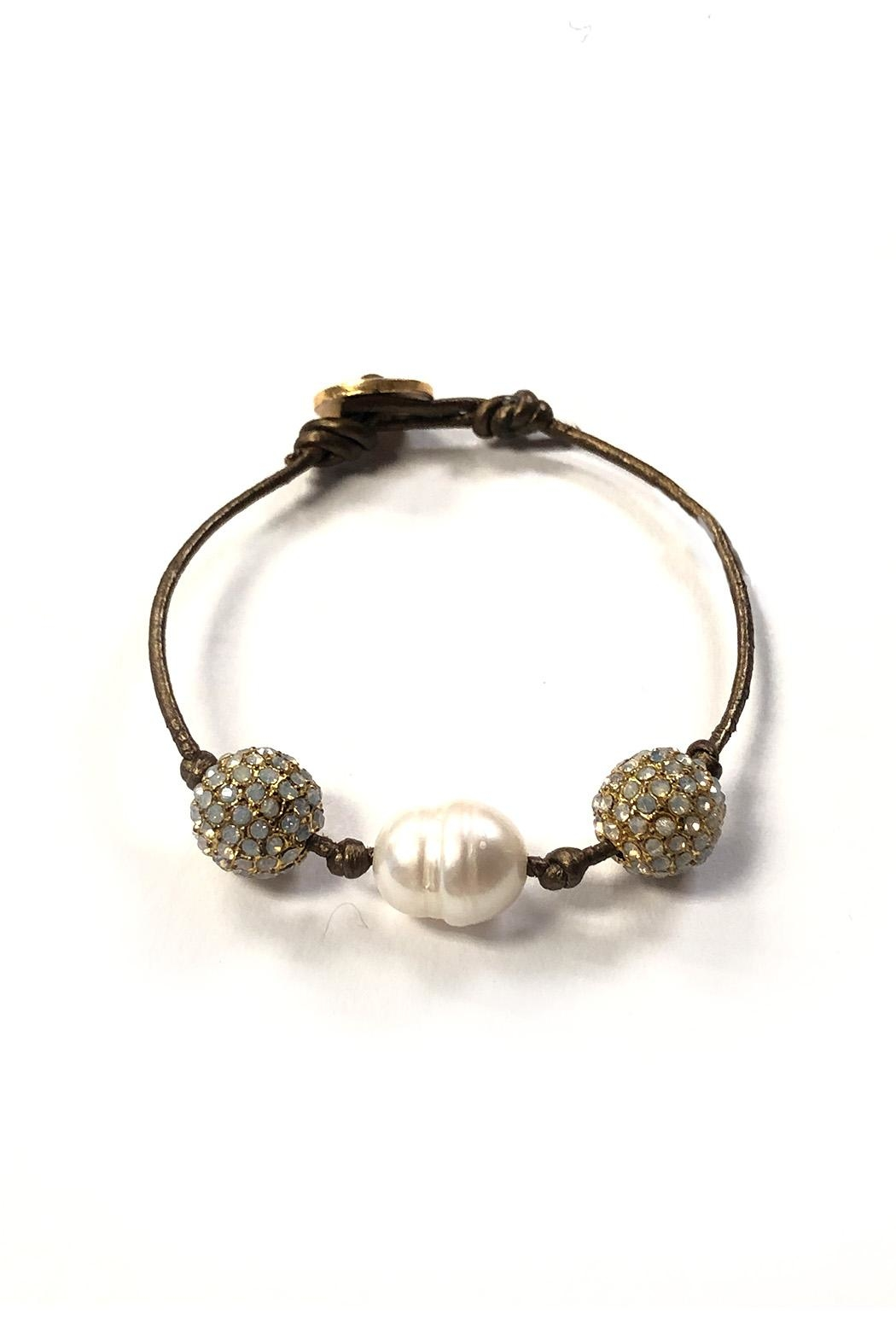 Lets Accessorize Dainty Mother-Of-Pearl Bracelet - Main Image