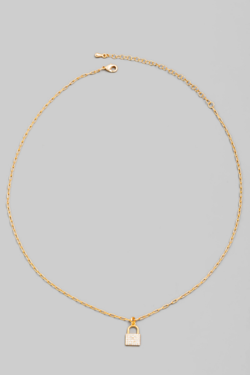 FAME ACCESORIES Dainty Padlock Necklace - Main Image
