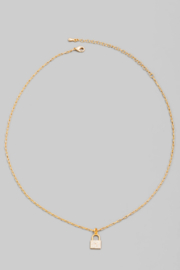 FAME ACCESORIES Dainty Padlock Necklace - Front cropped